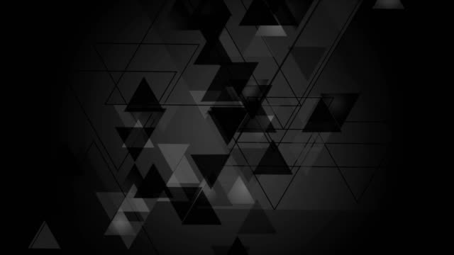 Tech-black-video-animation-with-triangles