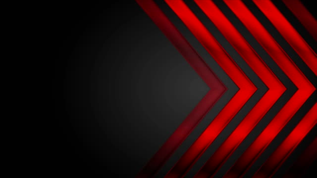 Flechas-rojas-brillantes-sobre-fondo-negro
