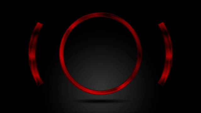 Abstract-red-glossy-metal-circle-video-animation