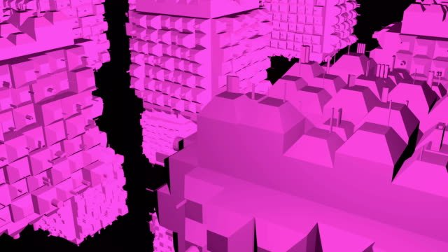 Abstract-greeble-cubes-surface-on-black-background-3d-rendering