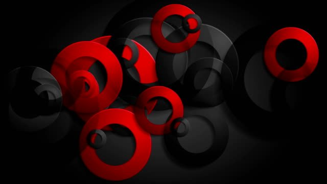 Abstract-red-black-rings-corporate-animated-background