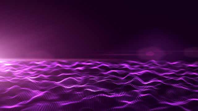 Abstract-purple-digital-waves-background-with-light-flare