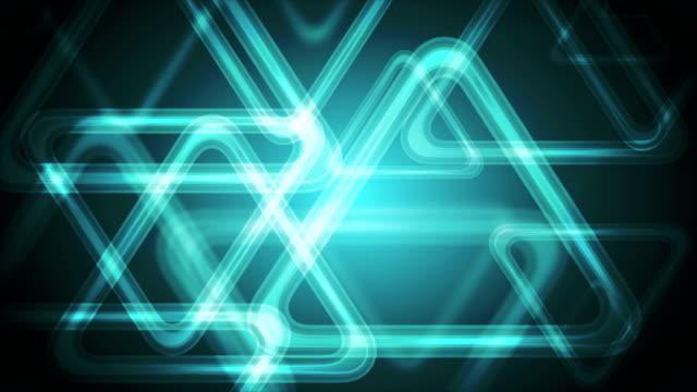 Dark-turquoise-polygonal-triangles-video-animation