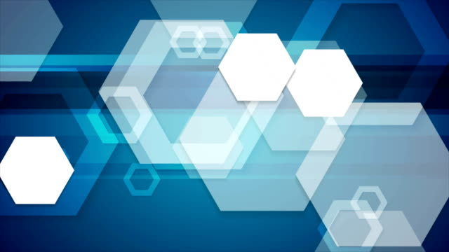 Abstract-blue-tech-geometric-video-animation