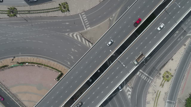 aerial-scene-of-road-and-traffic-4k-video