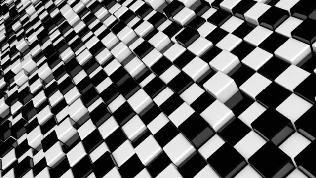 Movement-of-cubes-Futuristic-background-with-black-and-white-cubes-Cubes-with-reflection