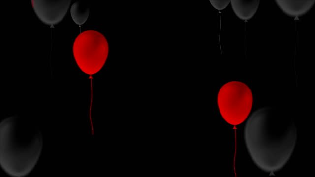 Globos-rojos-y-negros-Resumen-vídeo-de-animación