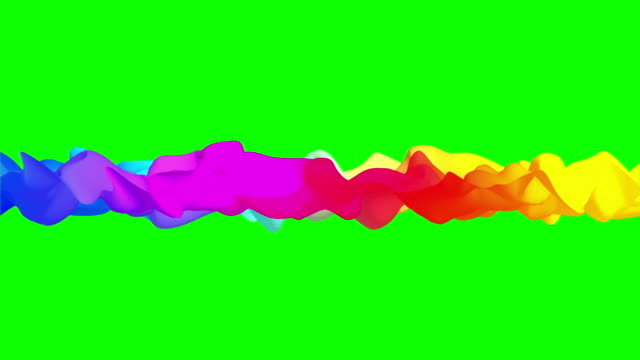 Bright-abstract-rag-fluttering-on-green-screen-3D-animation-seamless