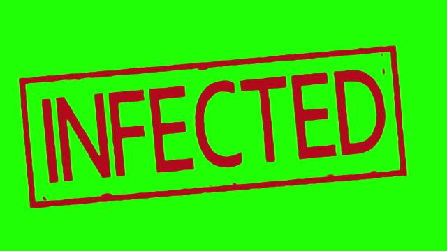 Stempel-auf-green-Screen-weißen-und-schwarzen-infiziert