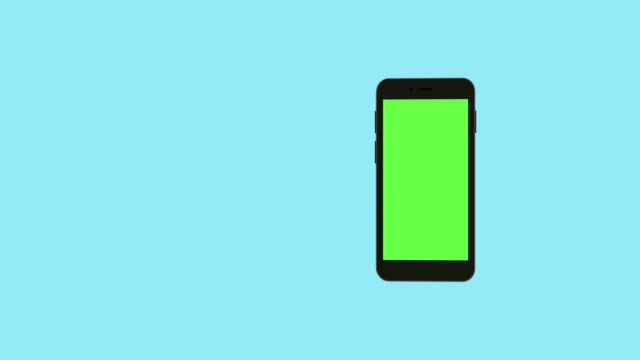 smartphone-with-green-screen-rotate-background
