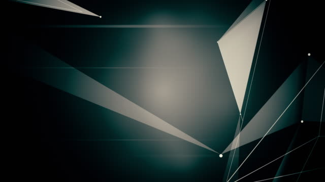Abstract-computer-generated-seamless-loop-abstract-geometrical-motion-from-chaotic-slow-moving-dots-lines-and-triangles-background-