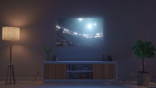 Sport-stadium-on-living-room-tv-set
