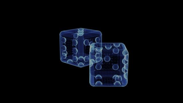 Hologramm-der-rotierenden-Würfel