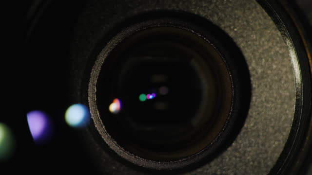 Lens-flare-on-a-professional-camcorder-lens
