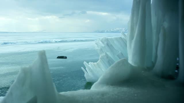 Icebergs-on-iced-sea-or-ocean-