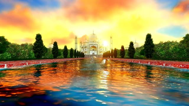 Sketch-color-of-Taj-Mahal-India