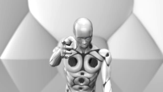AI-Robot-sitting-pointing-simulation-of-human-intelligence-by-machines
