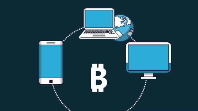 Bitcoin-cryptocurrency-money-HD-animation-scenes