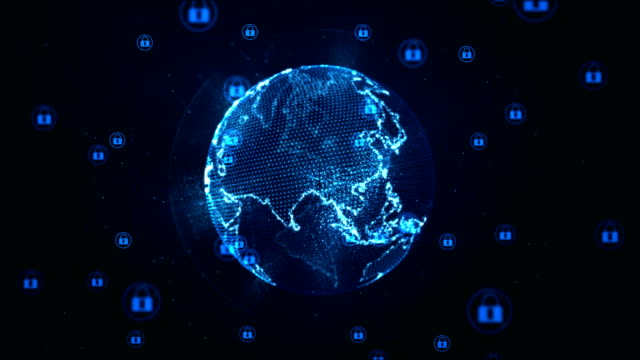 Technology-network-and-cyber-security-concept-Protection-for-worldwide-connections-Earth-element-furnished-by-Nasa