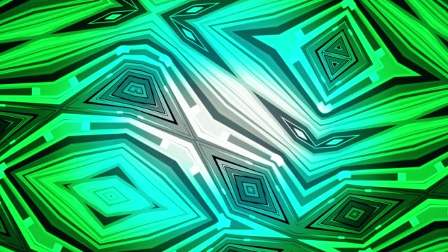 Neon-blue-and-green-digital-kaleidoscope