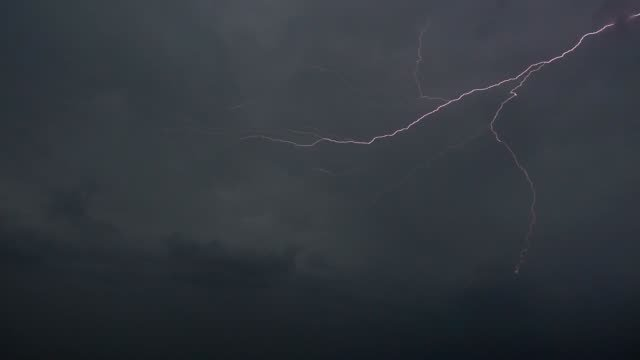 Lightning-and-storm-clouds-in-Slow-Motion-sequence