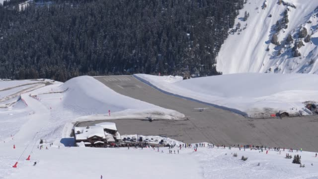 Light-Engine-Aircraft-Takes-Off-From-The-Mountain-Airport