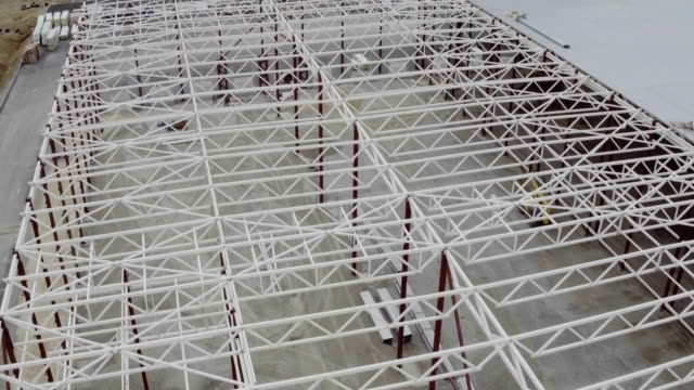 Aerial-footage-of-building-construction-site