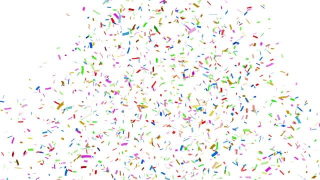Multi-colored-confetti-falling-+-Alpha-Channel