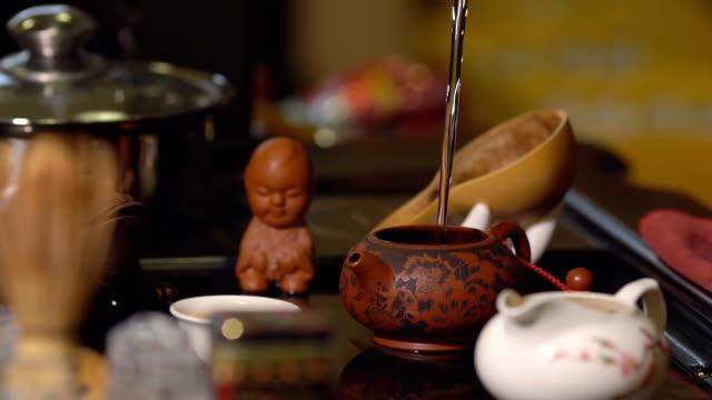 Tea-ceremony-Ceramic-tableware-on-the-table