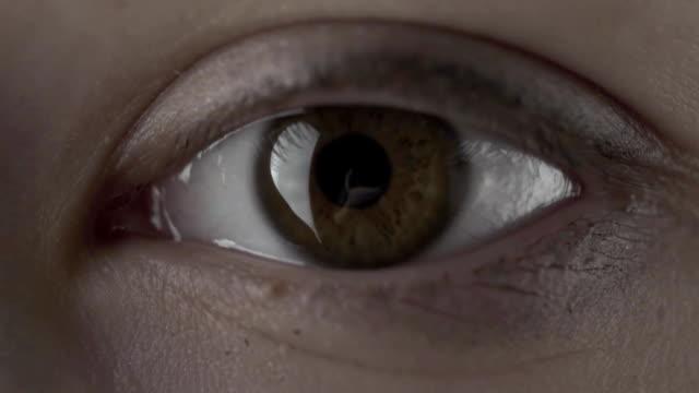 Makro-Nahaufnahme-Wumen-Augenzwinkern