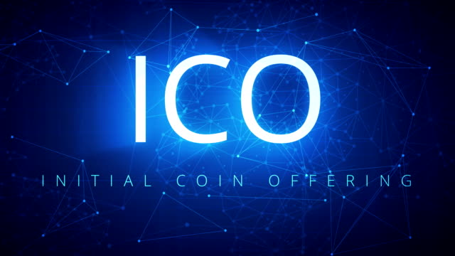 ICO-Blockchain-technology-abstract-hud-background-loop