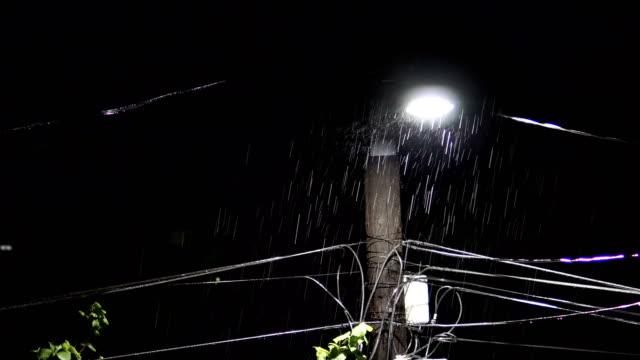 Nacht-Regen-Sturm-mit-Donner-Lichter-Ton-enthalten