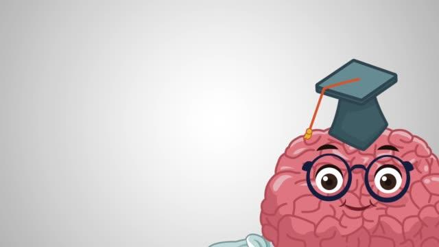 Dibujos-animados-divertida-y-lindo-cerebro-animación-HD