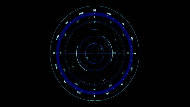bucle-sin-interrupción-del-movimiento-brújula-head-up-displays-con-norte-y-sur-indicador-sobre-fondo-negro-concepto-de-la-tecnología