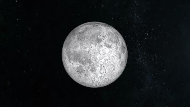 La-luna-es-iluminada-por-el-sol-La-luna-es-inmóvil-y-que-lentamente-se-acerca-Vista-desde-el-espacio-Centellean-de-estrellas-4K-