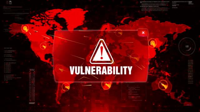 Vulnerabilidad-alerta-ADVERTENCIA-ataque-en-la-pantalla-mapa-mundial-de-movimiento-loop-