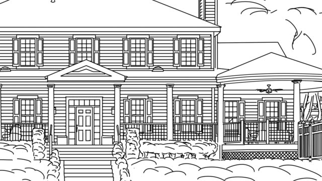 Transition-Of-Custom-Home-From-Drawing-to-Completion-