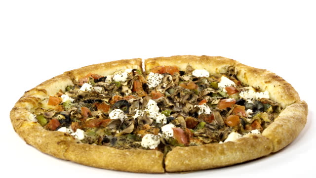 rotating-delicious-pizza-on-white-background