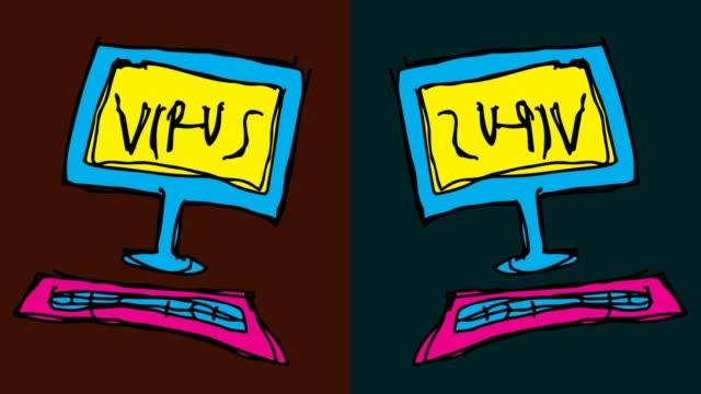 niños-dibujo-fondo-transparente-del-arte-pop-con-el-tema-de-virus-informáticos