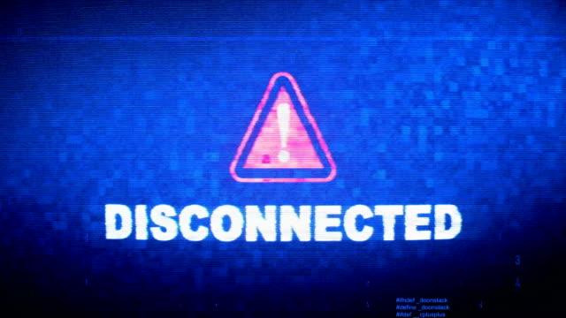 Texto-desconectado-ruido-digital-Twitch-Glitch-distorsión-efecto-error-animación-