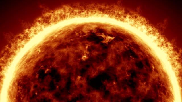 4K-realistisch-Sonne-Oberfläche-mit-Sonneneruptionen-brennende-Sonne-die-isoliert-auf-schwarz-mit-Platz-für-Ihren-Text-oder-Ihr-Logo-Motion-Grafik-und-Animation-Hintergrund-