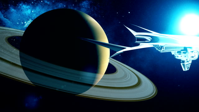 Alien-spacecraft-flies-past-Saturn