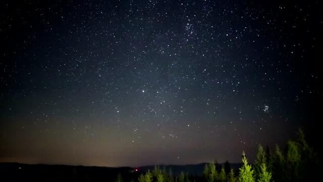 Cielo-de-estrellas-girando-el-lapso-de-tiempo-de-Astrofotografía-de-espacio