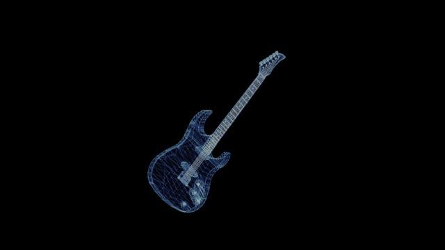 Das-Hologramm-eines-rotierenden-e-Gitarre
