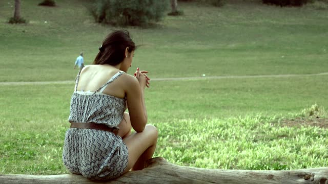 sad-desperate-lonely-woman-in-the-park-Problems-troubles