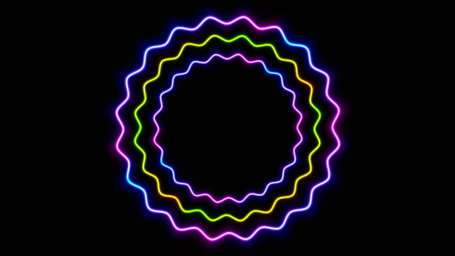 Colorful-glowing-neon-wavy-circles-video-animation