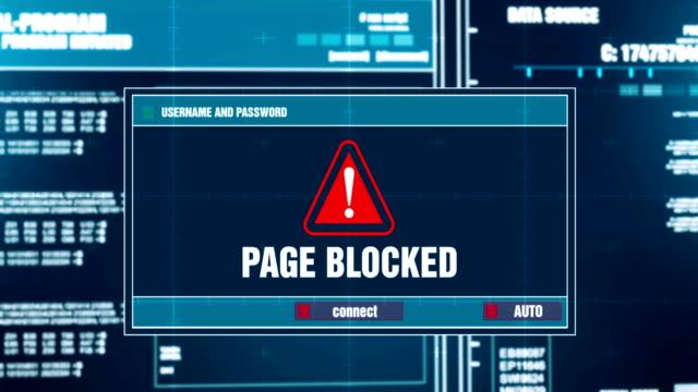 Bloqueado-de-página-notificación-de-advertencia-generado-en-mensaje-de-Error-alerta-de-seguridad-de-sistema-Digital-en-pantalla-de-la-computadora-después-de-ingreso-y-contraseña-Delito-cibernético-informático-Hacking-concepto