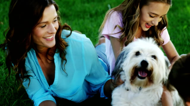 Family-playing-with-their-dog-in-the-park