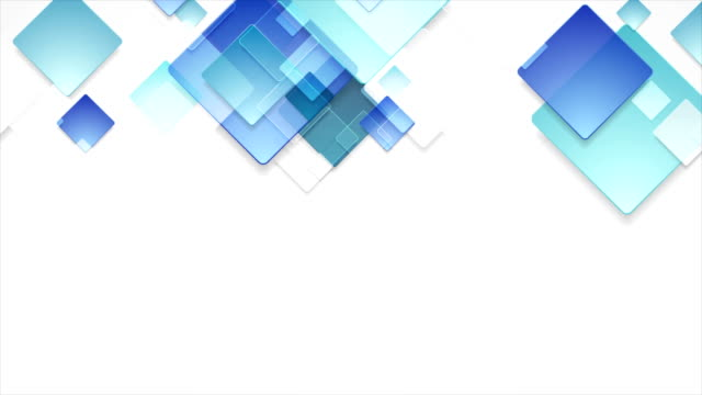 Glass-blue-abstract-squares-geometric-video-animation