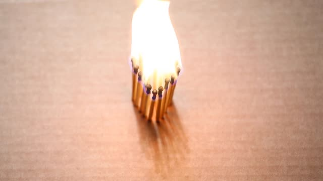 heart-fire-flame-matches-paper-box-hd-footage